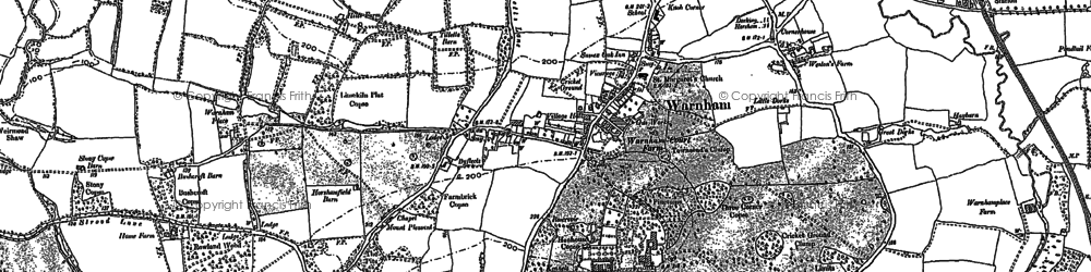 Old map of Westons Place in 1896