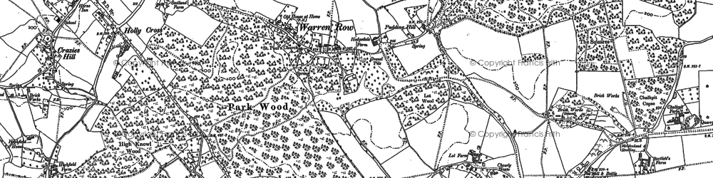 Old map of Bowsey Hill in 1910