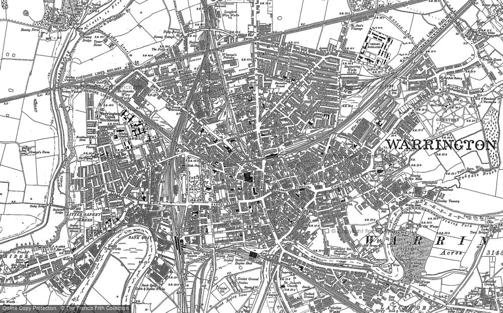 Map of Warrington, 1891 - 1905 - Francis Frith