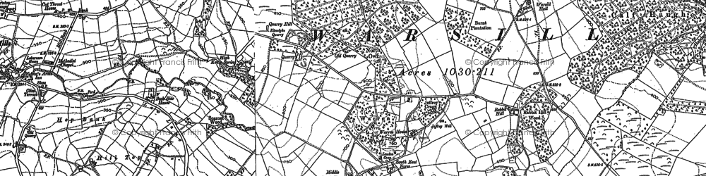 Old map of Woodfield Ho in 1908