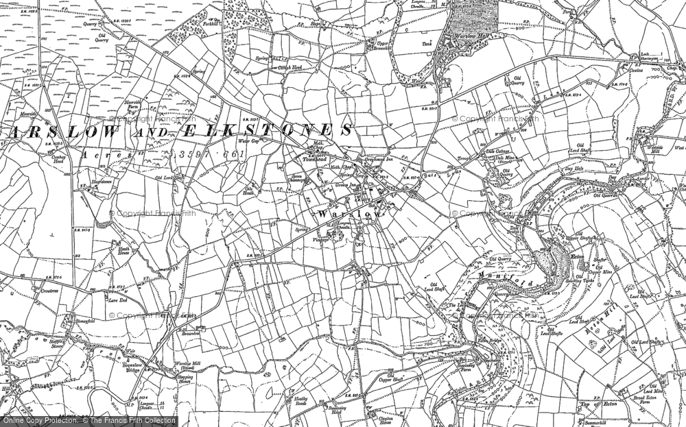 Old Map of Historic Map covering Averhill Side in 1898