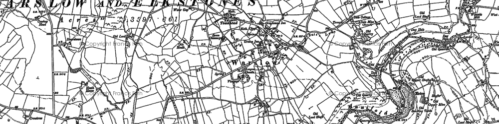 Old map of Averhill Side in 1898