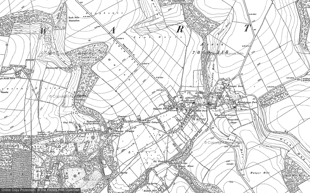 Old Map of Historic Map covering Lings Plantn in 1891