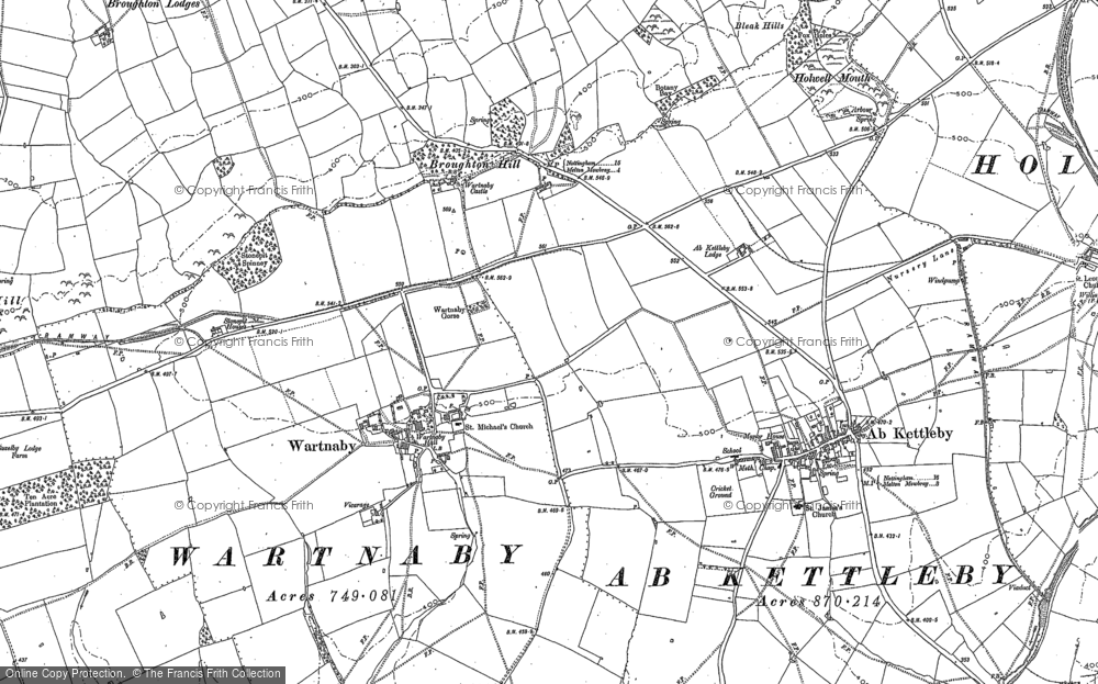 Old Map of Historic Map covering Ashleigh in 1883