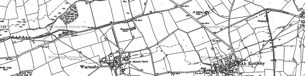 Old map of Ashleigh in 1883
