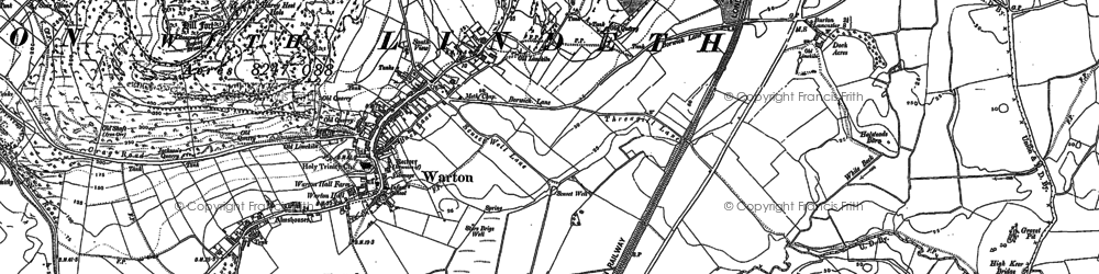 Old map of Warton in 1910