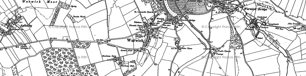 Old map of Wetheral Plain in 1899