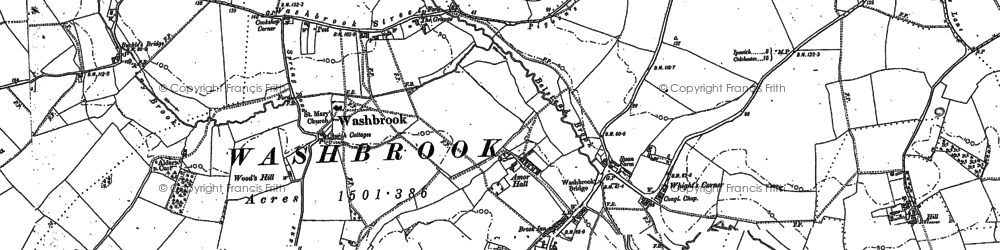 Old map of Amor Hall in 1881