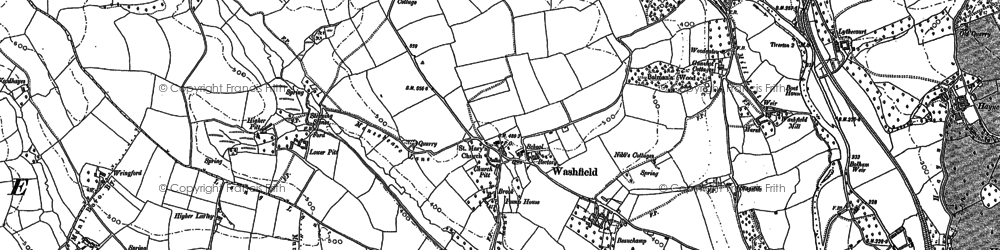 Old map of Washfield in 1887