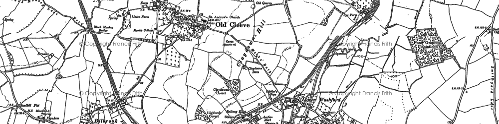 Old map of Washford in 1887