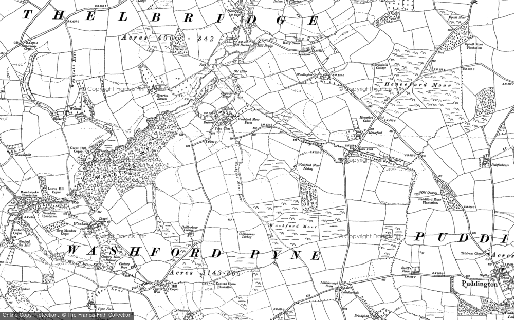 Old Map of Historic Map covering Woodington in 1887