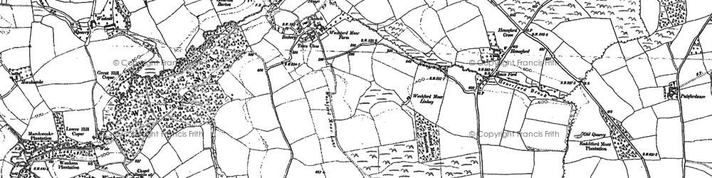 Old map of Westcott in 1887