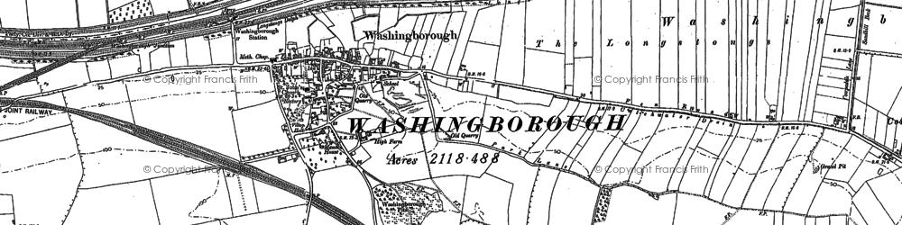 Old map of Willingham Fen in 1886
