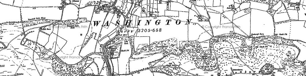 Old map of Windlesham (Sch) in 1896