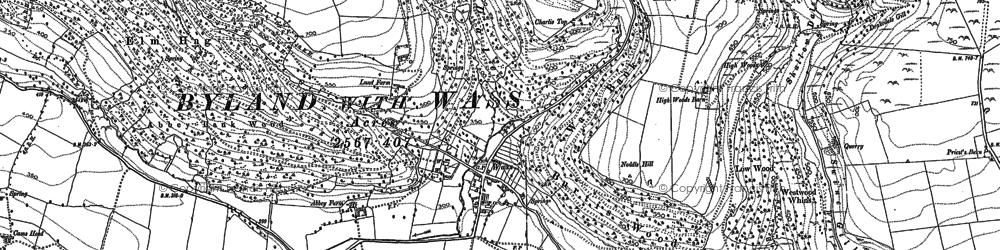 Old map of Tom Smith's Cross in 1891