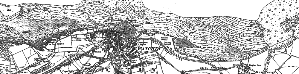 Old map of Watchet in 1887