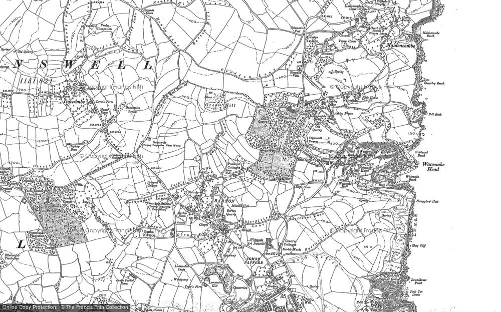 Map of Watcombe, 1904