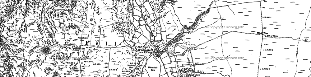 Old map of Ashness Fell in 1897