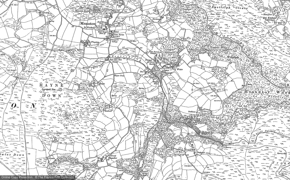 Old Map of Historic Map covering Leighon in 1885