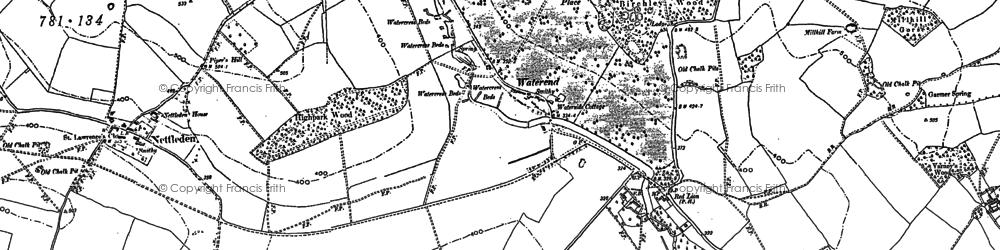 Old map of Gadebridge in 1922