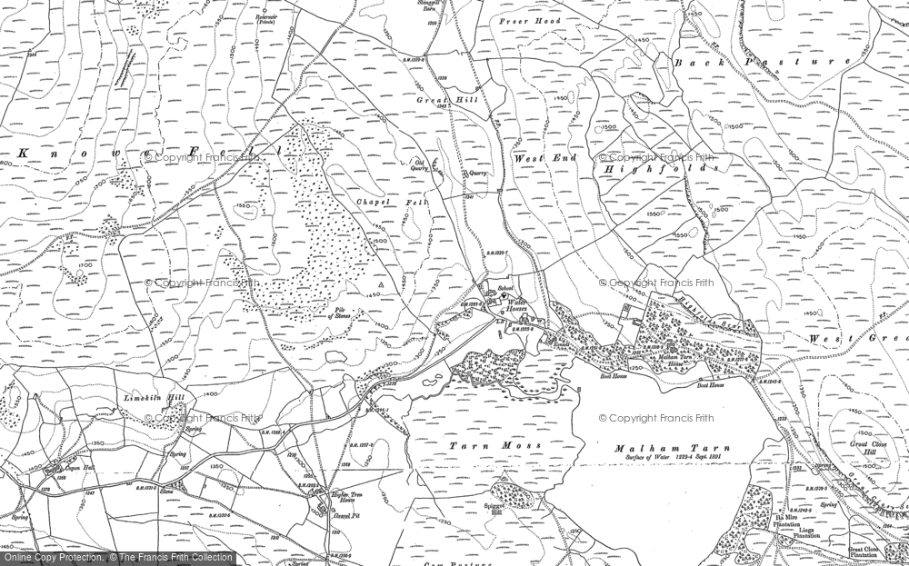 Old Map of Historic Map covering Back Pasture in 1907