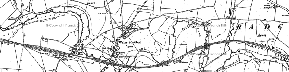 Old map of Bacon's Ho in 1898