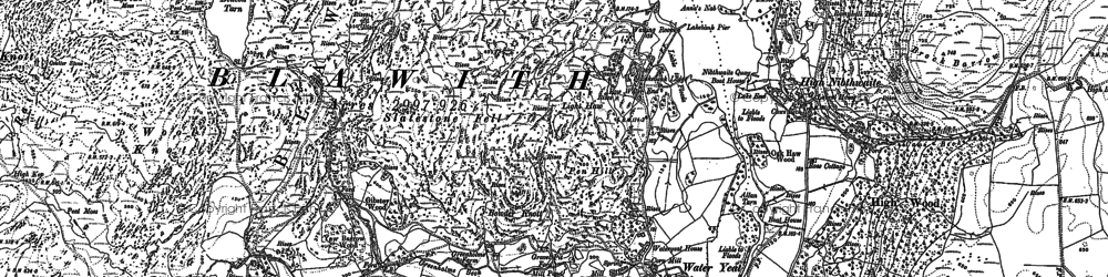 Old map of Wool Knott in 1911