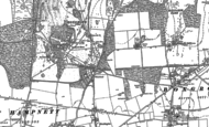 Old Map of Waterbeach, 1896