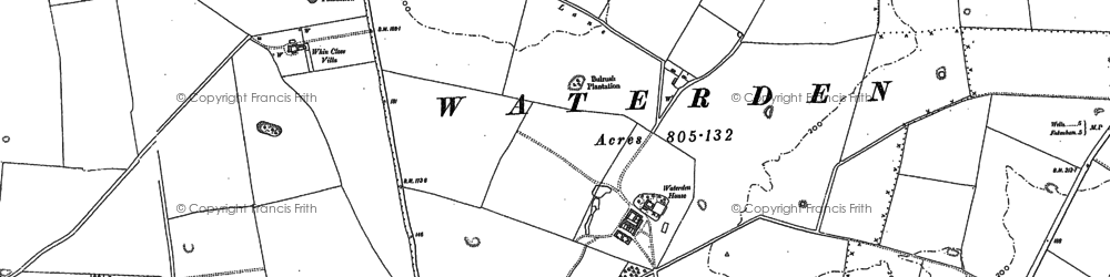 Old map of Whin Close Villa in 1885