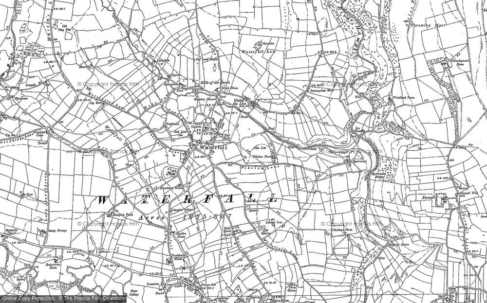 Old Map of Historic Map covering Back o'th' Brook in 1898