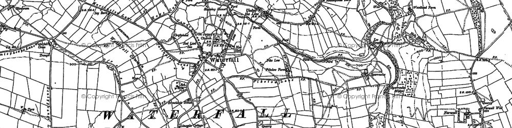 Old map of Back o'th' Brook in 1898