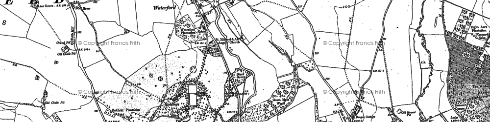 Old map of Waterford in 1897