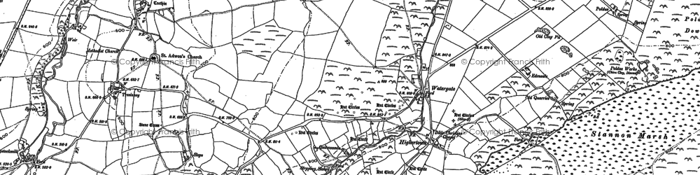 Old map of Highertown in 1882