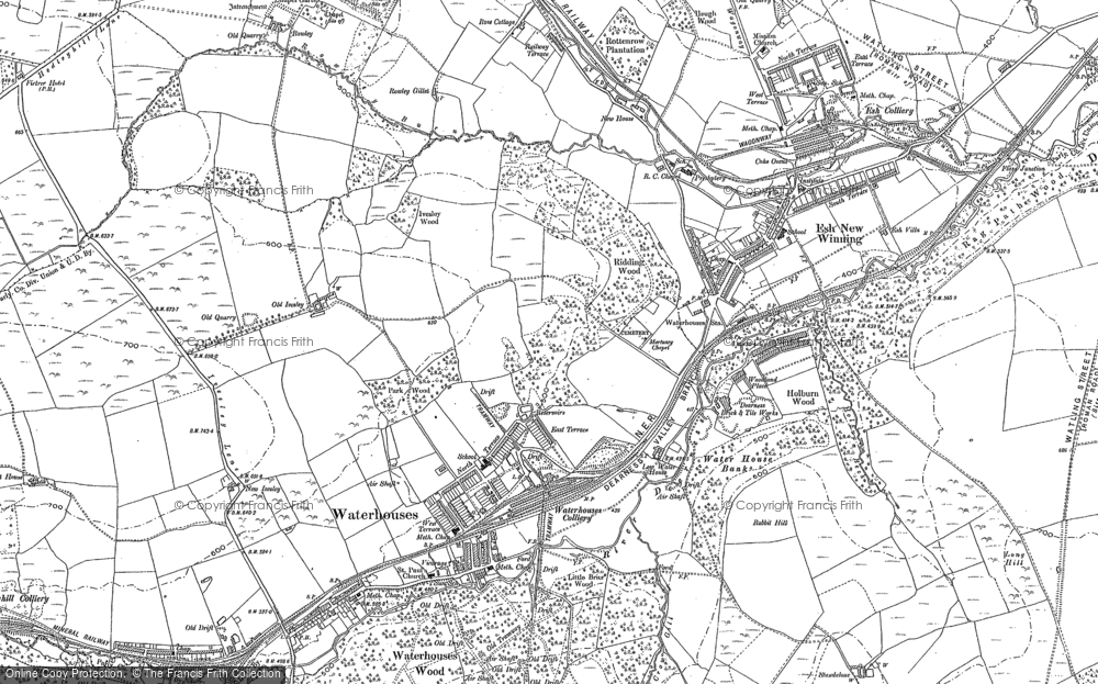 Old Map of Historic Map covering Baal Hill in 1895