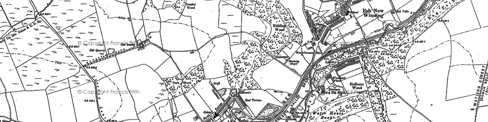 Old map of Baal Hill in 1895