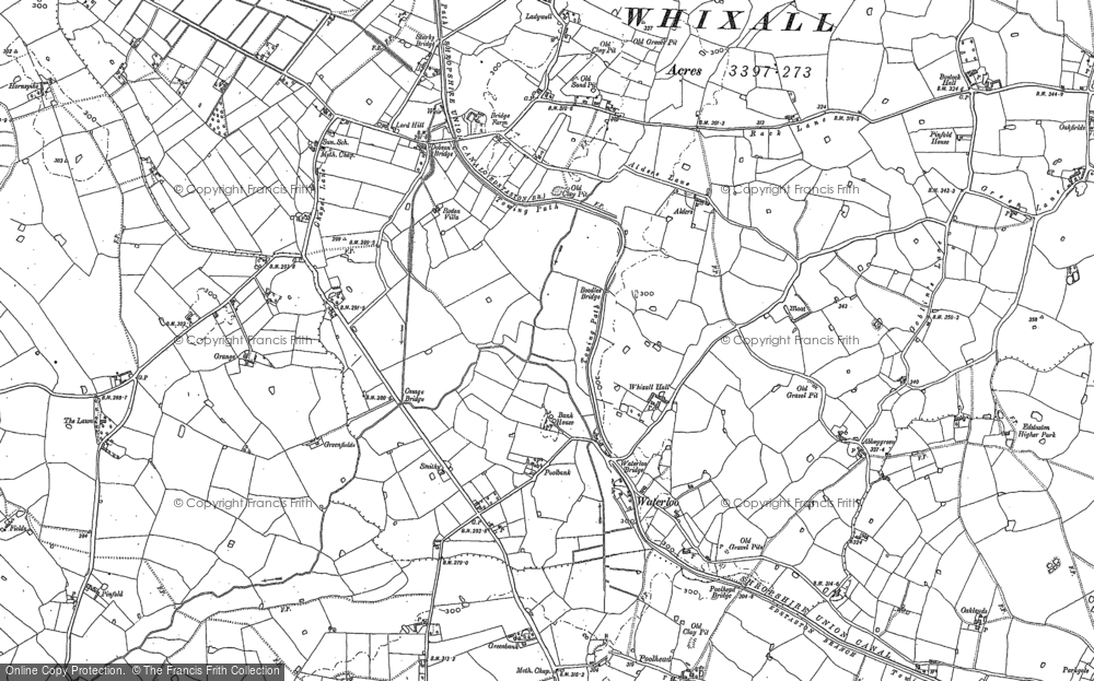 Old Map of Historic Map covering Abbey Green in 1880