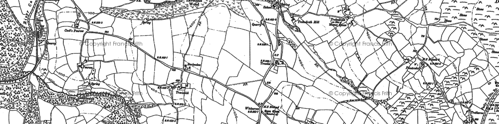 Old map of Whitecross in 1882
