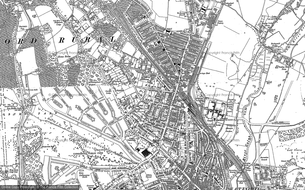 Old Map of Watford, 1896 - 1913 in 1896