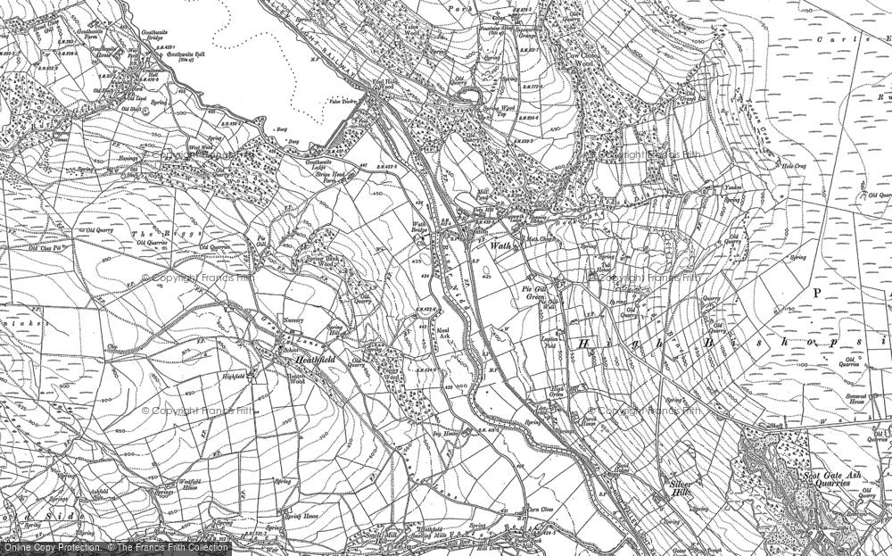 Old Map of Historic Map covering Ashfold Side in 1907