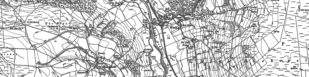 Old map of Mosscarr in 1907