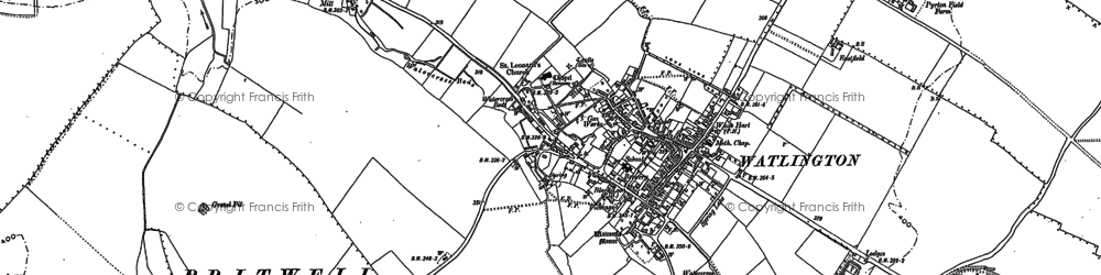 Old map of Watlington in 1897