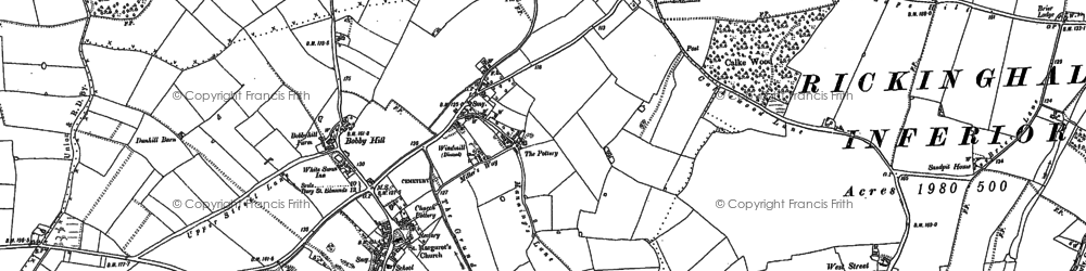 Old map of Westhall Wood in 1885
