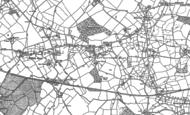 Old Map of Wattlesborough Heath, 1881 - 1901