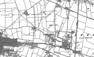 Old Map of Watton, 1890