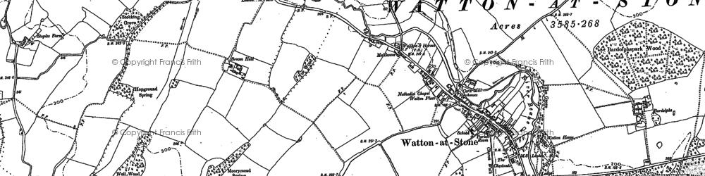 Old map of Arbury Wood in 1897