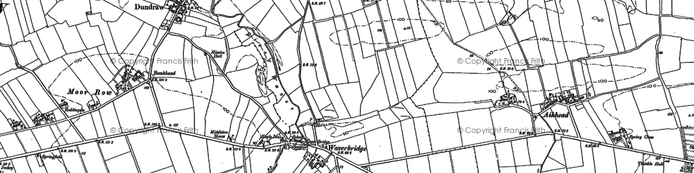 Old map of Aikhead in 1899