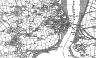 Old Map of Wearde, 1883 - 1905