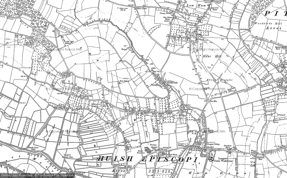 Old Map of Wearne, 1885 - 1886 in 1885