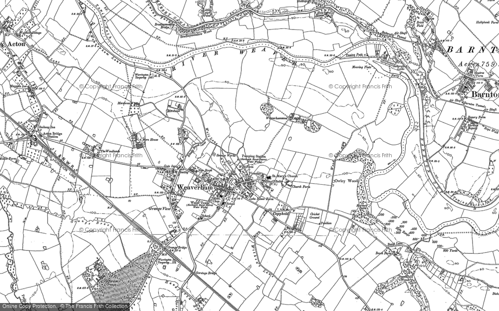 Map of Weaverham, 1897