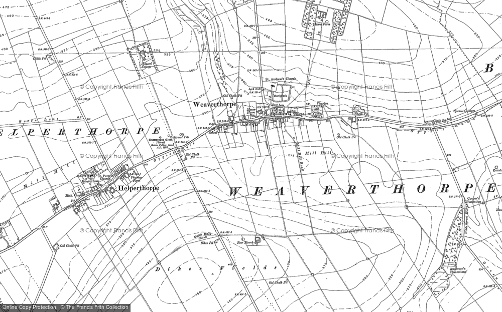 Map of Weaverthorpe, 1888